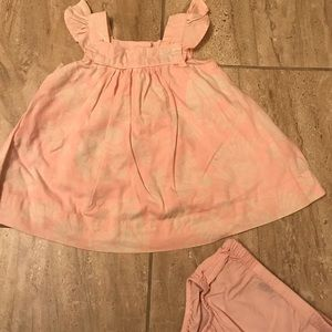 Baby Gap soft pink with white floral pattern dress